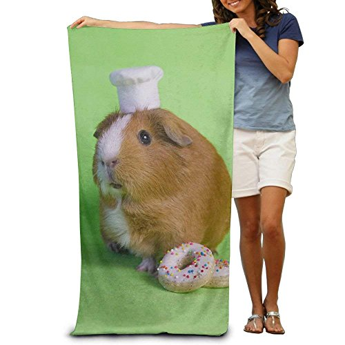 hat pillow Guinea Pig Hand Towel Bath Bathroom Shower Towels, 31.5