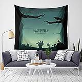 Ninbo Halloween Tapisserie Kunst Malerei Dekoration für Bettwäsche Wohnzimmer Schlafzimmer Wohnheim Dekor 59 × 51 Zoll