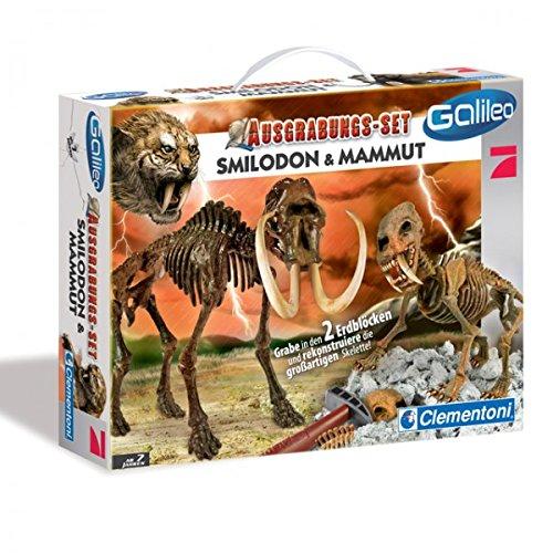 Clementoni 69988 STEINZEIT Smilodon und Mammut Ausgrabungsset Forschen Wissenschaft