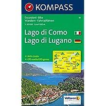 Lago di Como & Lugano 91 GPS D/I kompass (Aqua3 Kompass)