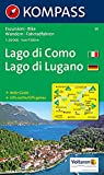 Carta escursionistica n. 91. Laghi settentrionali. Lago di Como, Lago di Lugano 1:50000: Wandelkaart 1:50 000