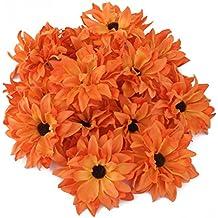 20x Clip Pinza de Flor Artificial Margarita para Pelo Boda Novia Anaranjado 3905eba71148