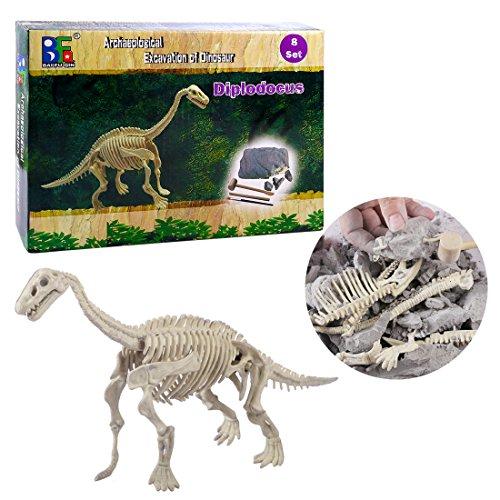 Riva776Yale Dinosaurier Kreativ Pädagogisch Spielzeug,Dinosaurier Archäologie Ausgrabungs Spielzeug Ausgrabungs Set Geschenk für Kinder - Diplodocus