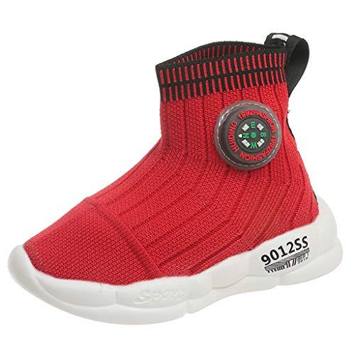 UOMOGO LED Scarpe Sportive per Bambini Scarpe da Ginnastica Casual Respirabile Mesh Scarpe da Corsa all'aperto Sneakers Lucida