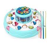 LIPENG-TOY Kinderfischenspielwarenbaby elektrische Kätzchenfischenpoolklagejungen und pädagogische Spielwaren der Mädchen (Farbe : Blau)