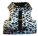 Katzengeschirr Schneeleopard schwarz-weiß Weste ausbruchsicher leicht anzulegen Größe M, Hals: 22 - 27 cm, Brust: 33 - 47 cm