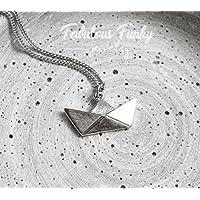 Papierboot Kette Silber