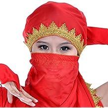 YiJee Danza Danza del Vientre de Vestuario Chal Velo Bufanda Danza del Vientre Pañuelo