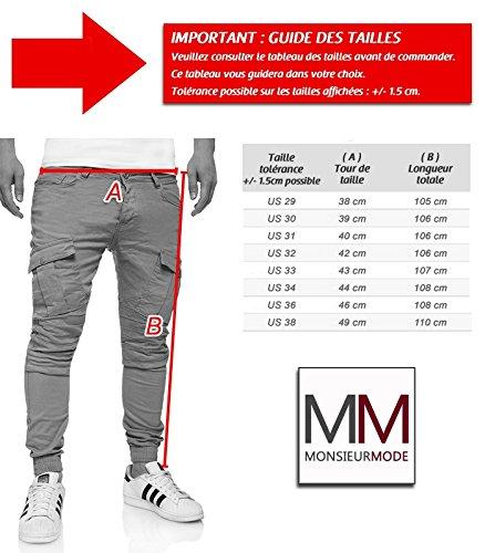 MonsieurMode - Jogg jeans cargo homme Jeans 90 marron - Marron Marron