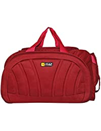 N Choice Fabric 30 Ltr Red Soft Sided Travel Duffles