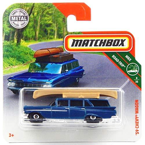 Matchbox* Chevy Wagon, Oldtimer von 1959 - 1:64 - dunkelblau