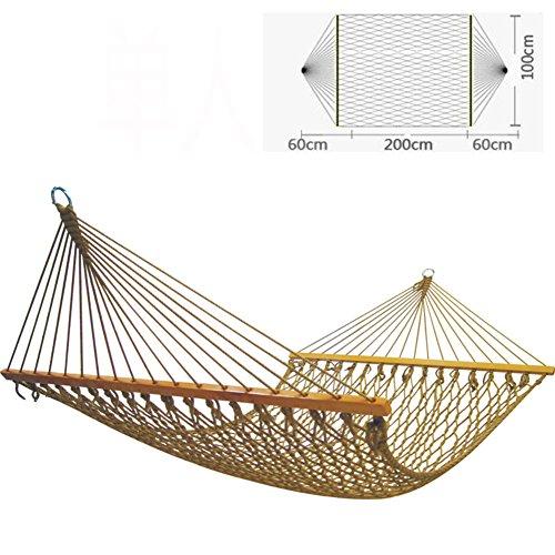 L&j amaca da giardino,durevole rete single nylon amaca in rete coperta confortevole base dell'oscillazione terrazza patio backpacking viaggi capacità di carico esterna-super-a