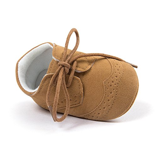 Matt Keely Bebé Niños niñas Suela Blanda Zapatos Bebe niña Infantil Zapatos con Cordones marrón...