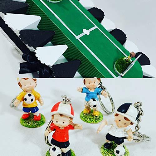 Torte bomboniere stadio calciatori calcio cresima e comunione compleanno (portachiavi 4 colori, juventus)