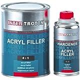Inter troton 2K acrílico pluma Imprimación Primer HS 4: 10,8L Color Blanco + Endurecedor 0,2L