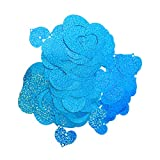Vosarea balón Colgante corazón Guirnalda Colgante Boda cumpleaños Proposición de Boda del Partido Suministros 100pcs (Azul Cielo)