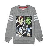 #2: Avengers Kids Boys Grey Melange Color Sweatshirt