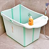 Folding tub XIN SHOP- Faltbares Babybad Extra großes Kind Badeeimer Kind Badewanne Babybadewanne (Farbe : Grün)