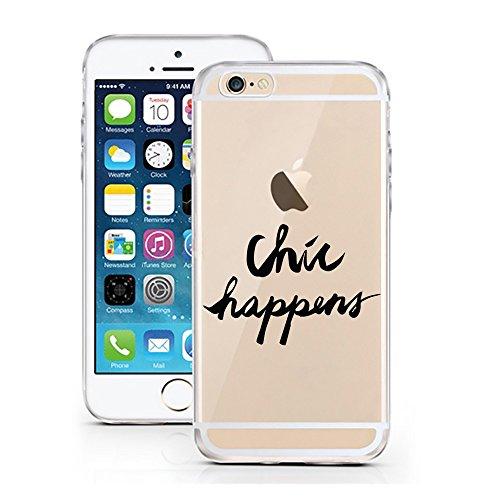 licaso iPhone 6S Hülle Apple iPhone 6 & 6S aus TPU Silikon Chic Happens Style Fashion Ultra-dünn schützt Schutzhülle (iPhone 6 6S, Chic Happens)