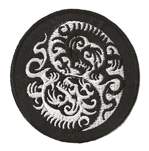 Parche insignia termoadhesivo Dragones de ying yang