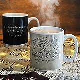 HARRY POTTER MUGBHP02 Tasse de café, Céramique, Noir, 9 x 9 x 10 cm
