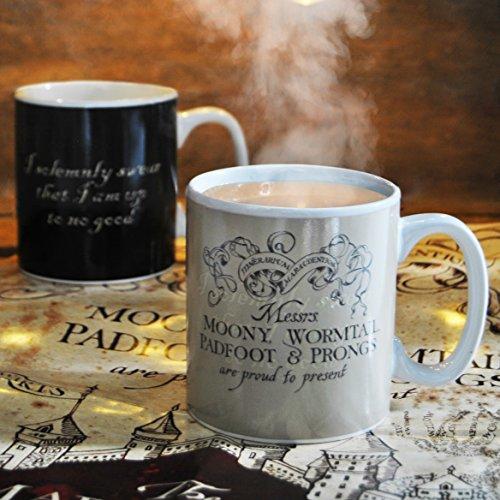Harry Potter Taza de Café, Cerámica, Negro, 9 x 9 x 10 cm