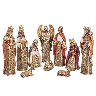 Belén de Navidad con Reyes Magos con Mosaico de Espejos Dorado Moderno para decoración navideña Christmas – LOLAhome