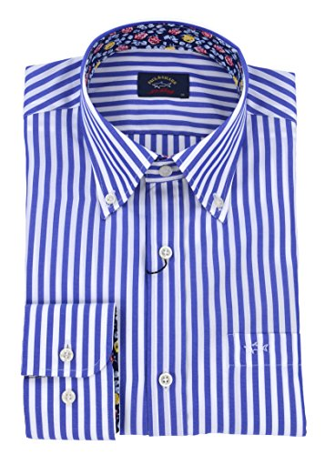 Paul & shark - uomo camicia button down righe azzurro p18p3166 008-26944 - 39