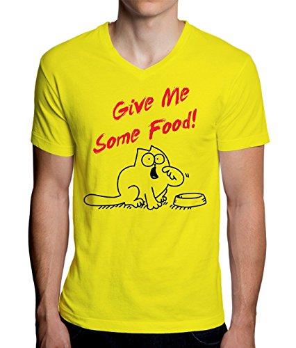 give-me-some-food-hungry-simons-cat-mens-v-neck-t-shirt-medium