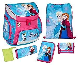 Scooli Schulranzen Set Campus UP, Disney Frozen, 6 teilig, 40 cm, 20 L, Pink