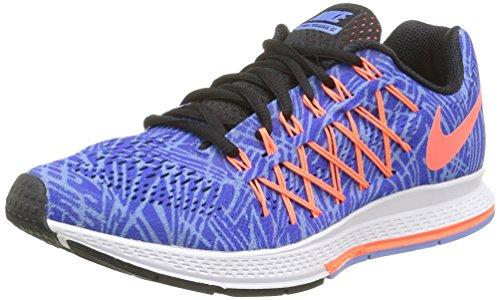 Nike Wmns Air Zoom Pegasus 32 Print, Chaussures de Running Entrainement Femme Multicolore (Racer Blue/Hypr Orange-Chlk Bl)