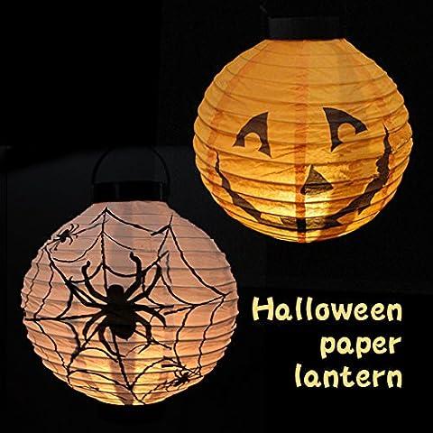 La Cabina Lanterne de Papier Accessoires Halloween Lampion Couleur et le Style Aléatoire Décoration pour Noël Mariage Anniversaire Fête Décoration de la
