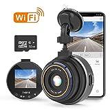 Caméra de Voiture WiFi, Dashcam Voiture Enregistreur de Conduite Full HD 1080P 1.5' Mini Dash-Cam pour Voiture 170° Voiture DashCam avec G Capteur, WDR, Détection de Mouvement, Carte SD 32Go Incluse
