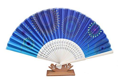 AAF Nommel  , 1 STK. Sommerfächer Deko Hochzeit Fächer aus Holz und Stoff Wasserfest Nr 545