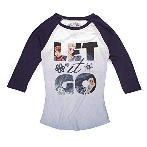 Disney Frozen Trio Let It Go Scene Junioren Long Sleeve T-Shirt | XS (Junioren Disney Sweatshirt)