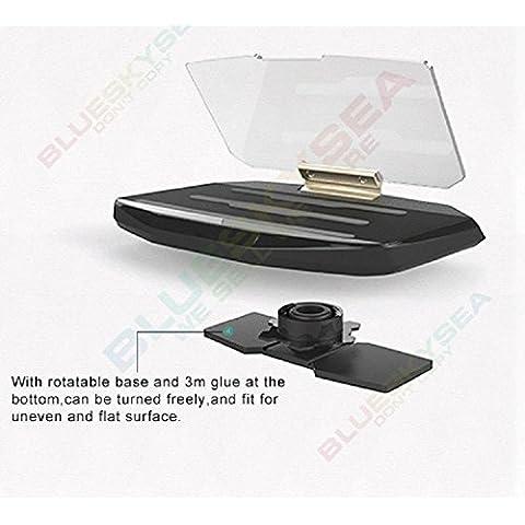 Uphig soporte de Navegador GPS de vehícolos para teléfono móvil inteligente iPhone Samsung HUD head Up Display manos libres Mobile Vehicle Mounted