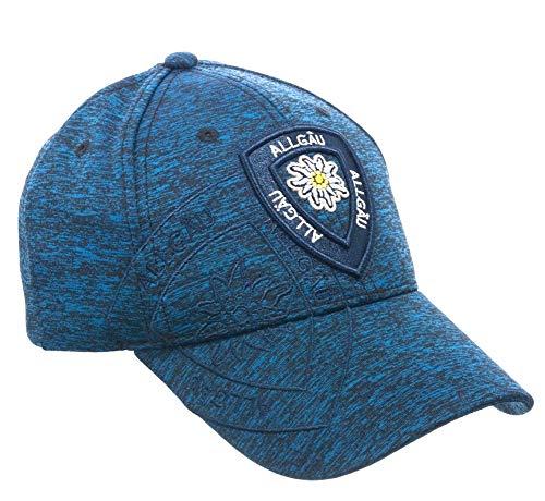LK-Trend & Style Baseball Cap für ALLGÄU Fans in Blau mit Edelweiß universal verstellbare Größe/Unisex CG659A