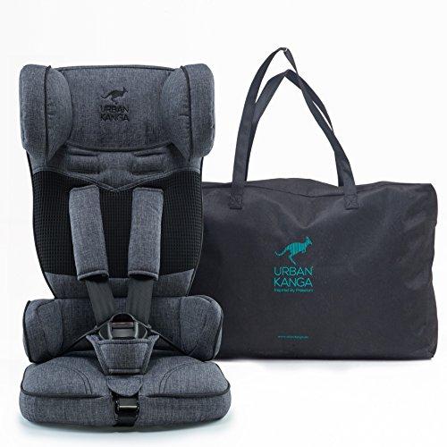 Preisvergleich Produktbild Urban Kanga Kindersitz/Autositz Reise Tragbarer und Faltbarer Gruppe 1, 9–18 kg (Grau Denim)