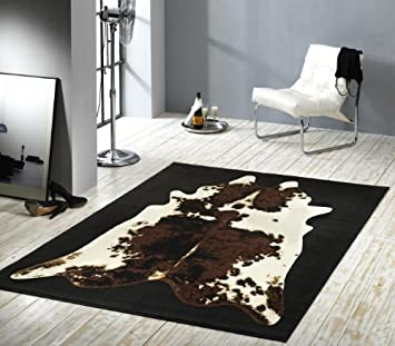 Tappeto di design in velluto, simil pelle di mucca, 101579, 160 x ...