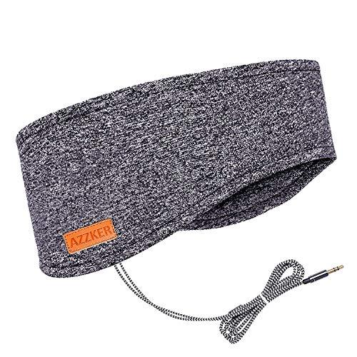 Azzker Auriculares para dormir, máscara para los ojos para dormir con altavoces estéreo ultrafinos HD, regalos perfectos para el insomnio, siesta, ronquidos, viajes aéreos y relajación (gris)
