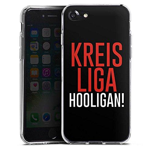 Apple iPhone X Silikon Hülle Case Schutzhülle Kreisliga Hooligan Fußball Silikon Case transparent