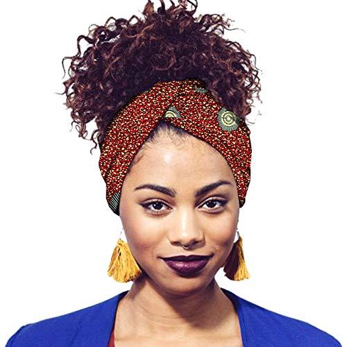 Hzjundasi Damen Druck Stirnbänder Turban Hochwertige Baumwolle Kopftuch Krawatten für Frauen Mädchen Haarschmuck