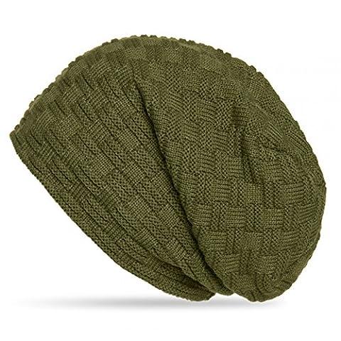 CASPAR MU133 Unisex Beanie Hat, Colour:olive green;Size:One