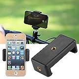 JUEYAN Smartphone Halterung Handyhalter Stativ-Adapter für Handy Selfie Stick Schwarz 7 x 3,5 x 2 cm Gummiarm