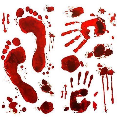 Oblique-Unique® Halloween Sticker Aufkleber - Realistisch Wirkende Schaurig Blutige Sticker/Aufkleber - Halloween (8,5 Aufkleber)