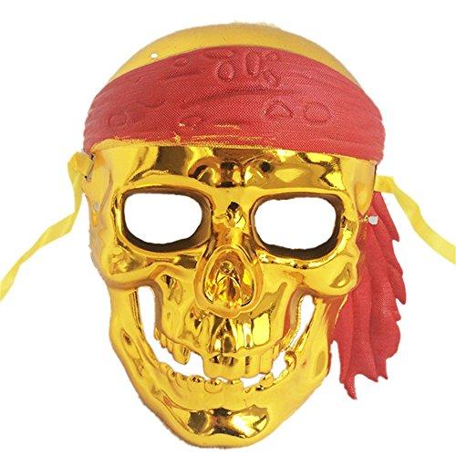 G-JY Lace Maske venezianische Maske Halloween Maske Halloween April Fools Day Make-up Make-up Ball Maske, Emaille Gold
