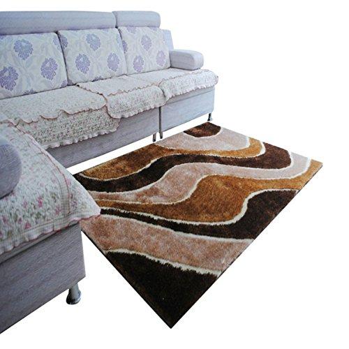 Love QAZ Modische Teppich 1200 D In die Seide Streifenmuster Teppich Wohnzimmer Schlafzimmer Studie (Grösse: 1.4 * 2.0) (Teppich 1200,)