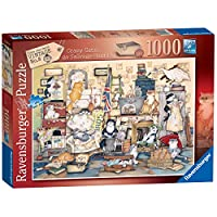 Ravensburger Crazy Cats Vintage No.8 - Go Salvage Hunting  1000pc Jigsaw Puzzle
