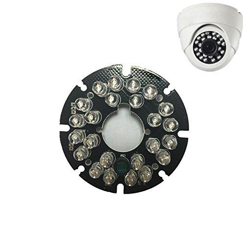 SODIAL 2 Stueck 24 LEDs 5mm Infrarot IR 90 Grad Gluehbirnen Licht Board 850nm Fuer CCTV ueberwachungskamera