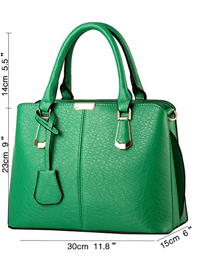 Menschwear Leather Tote Bag lucida PU nuove signore borsa a tracolla Cielo Blu Verde